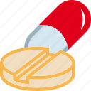 drugs, lozenge, medicines, pill, tablet icon
