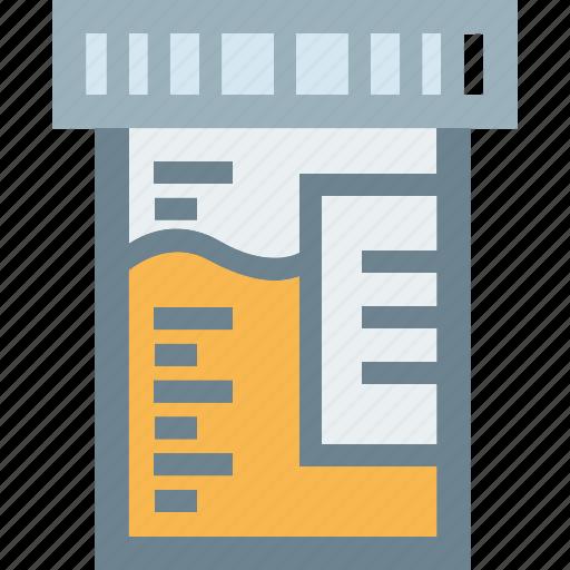 exam jar plastic sample urine icon