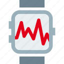 clock, graph, pulse, pulsometer icon