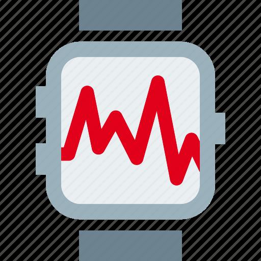 clock, graph, pulse, pulsometer icon
