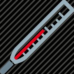 fever, hot, sick, temperature, thermometer icon