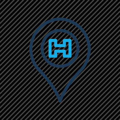 health, hospital, location, medical icon