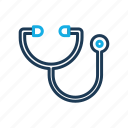 health, hospital, medical, stethoscope icon