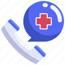 call, care, clinic, emergency, health, hospital, phone icon