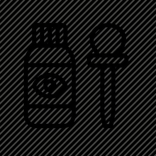 bottle, dropper, drops, eye, hospital, medical icon
