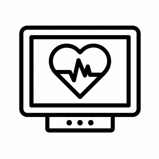 heart, heartbeat, hospital, medical, medicine, monitor, rate icon