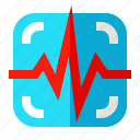 cardiogram, ekg, heartbeat, medical, monitor, rate, report icon
