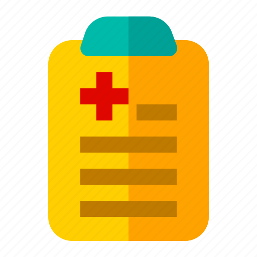 diagnosa, hospital, information, list, medical, patient, sick icon