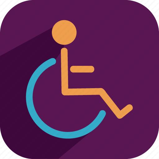 chair, wheel icon