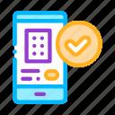 application, hostel, smartphone icon