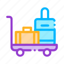 baggage, cart, valise icon