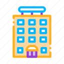 building, tower-block icon