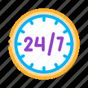 service, twenty-four-seven icon