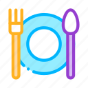 fork, plate, spoon icon