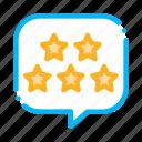 box, five, frame, stars, text icon