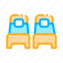 beds, place, single, two icon