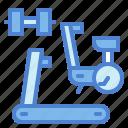 bike, dumbbell, fitness, gym, stationary