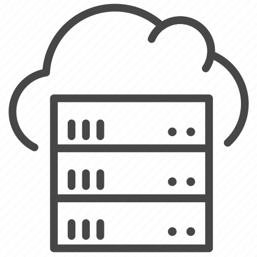 cloud, dedicated servers, hosting, server, storage icon