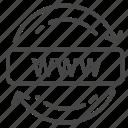 web, domain, network, hosting, renew, internet icon
