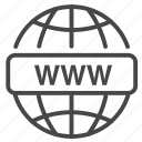 domain, domain name, hosting, internet, network, web, website icon