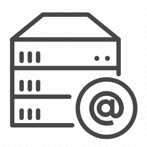 hosting, mail server, server icon