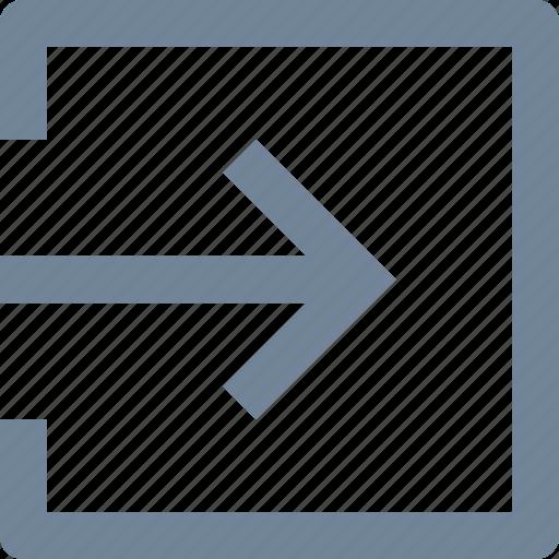 arrow, door, enter, hosting, log in, network, sign in icon