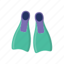beach, dive, diving, diving gear, fins, summer icon