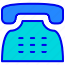call, communication, old, phone, retro icon