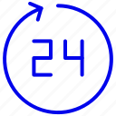 customer, hours, open, service, time icon
