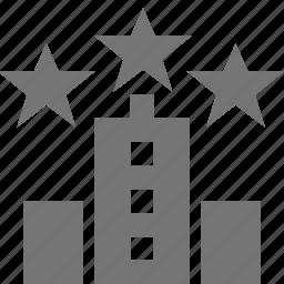 building, hotel, stars icon