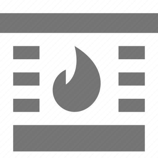 fire, fireplace, flame icon