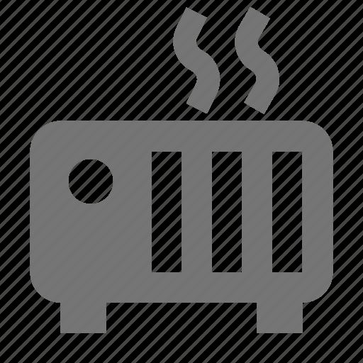 heat, heater, radiator, toaster icon