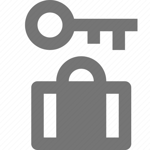 bag, lock, luggage, security, suitcase icon