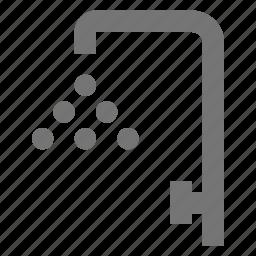 hotel, shower, wash, water icon