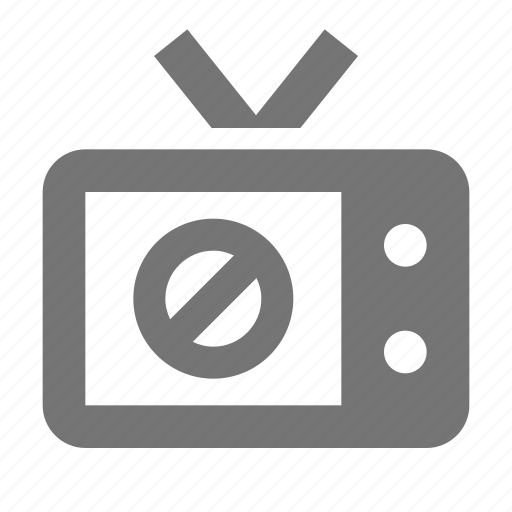 block, stop, television, tv icon