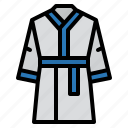 bathrobe, dress, robes icon
