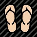bath, flipflop, footwear, sandal, sleeper icon