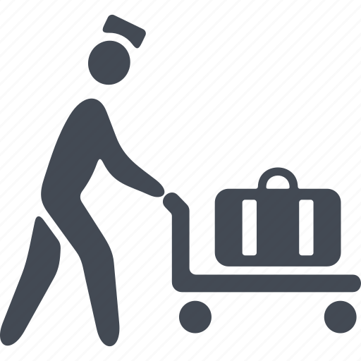 hotel, luggage shipping, suitcase, truck icon