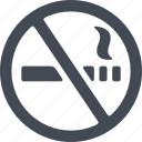 hotel, no smoking, prohibition sign, service icon