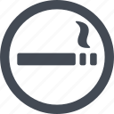 hotel, service, sign, smoking area icon