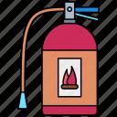 fire, extinguisher, flame, burn
