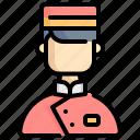 bellboy, doorman, room, service, hotel, user