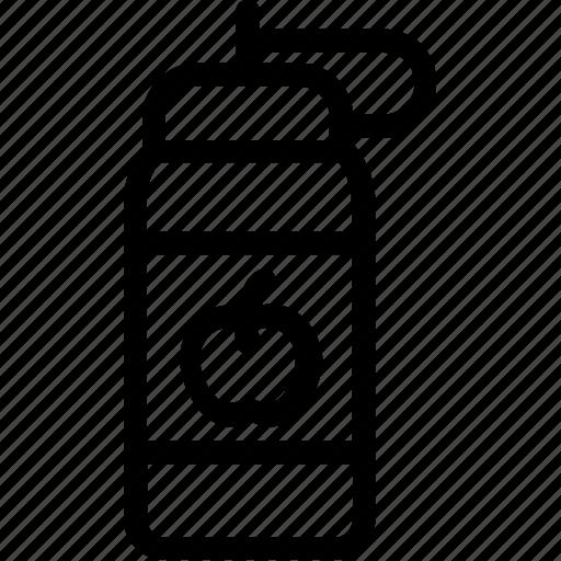 apple, apple juice, bottle, drink, juice icon