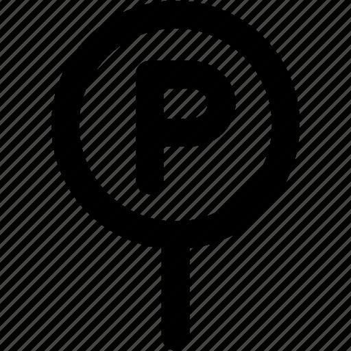 car park, hotel, parking area, parking lot icon