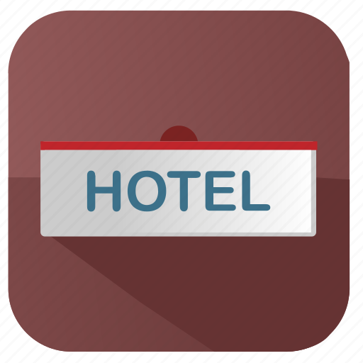 apartments, hotel, label, sign icon