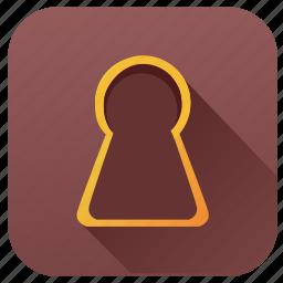 door, hotel, key, keyhole, open, room icon