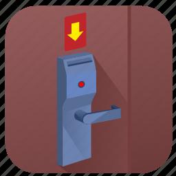 card, door, hotel, open, room icon