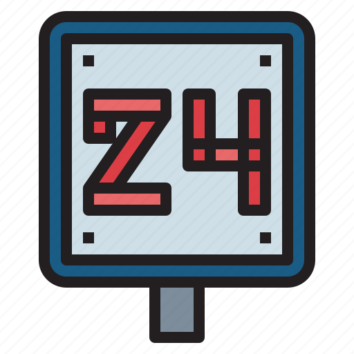 delivery, hours, service icon