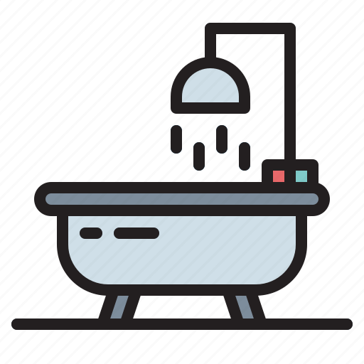 bathroom, bathtub, restroom, shower icon