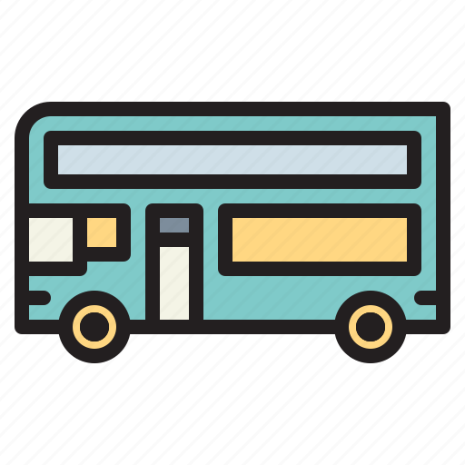 automobile, bus, public, school, transport icon